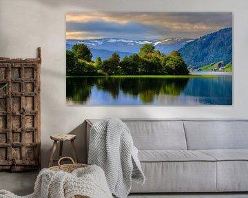 Oppheimsvatnet, Oppheim, Hordaland, Noorwegen