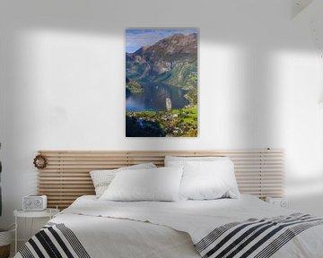 Kreuzfahrtschiff Aida Sol im Geirangerfjord, Norwegen