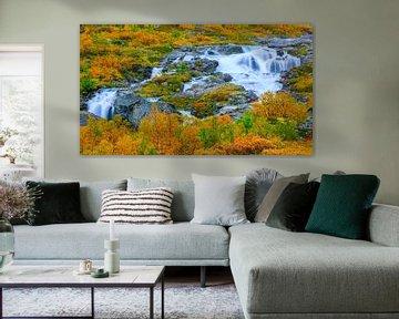 Herfst langs de Gamle Strynefjellsvegen, Noorwegen