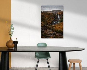 Allt Mhic Mhoirein waterfall, Isle of Skye van Gerben van Buiten