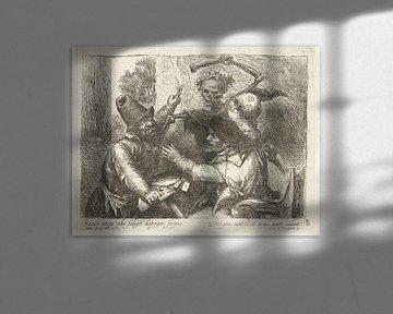 Drehende Kartenspieler und Tod, Jan Lievens, 1638