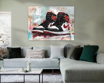 Nike Air jordan track red Malerei von Jos Hoppenbrouwers