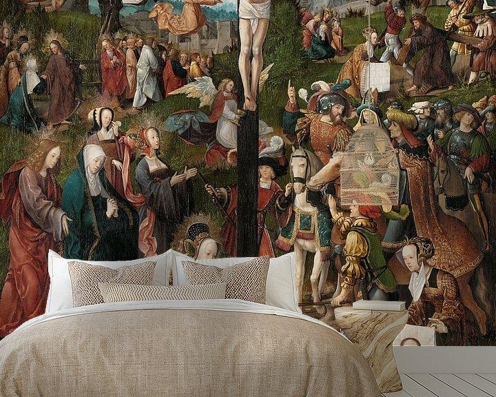 Beispiel fototapete: Die Kreuzigung, Jacob Cornelisz. van Oostsanen, um 1507 - um 1510