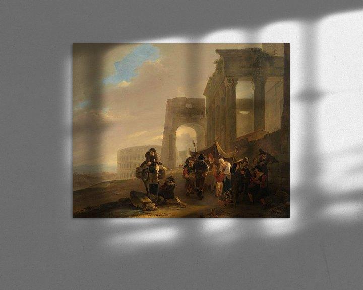 Beispiel: Menschenszene zwischen römischen Ruinen, Jan Both, 1640 - 1652