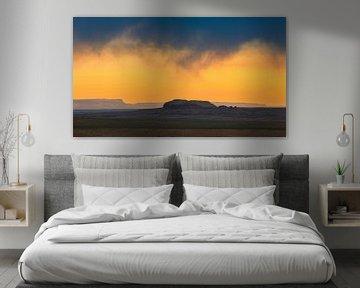 Sturmfront bei Sonnenuntergang in Arizona