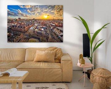 Uitzicht over Groningen stad van Rudmer Zwerver