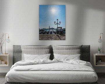 Vue de l'île San Giorgio Maggiore à Venise, Italie sur Rico Ködder