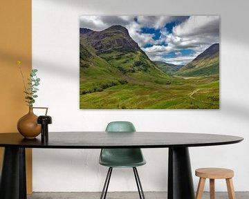 Glen Coe Tal in den schottischen Highlands von Jürgen Wiesler