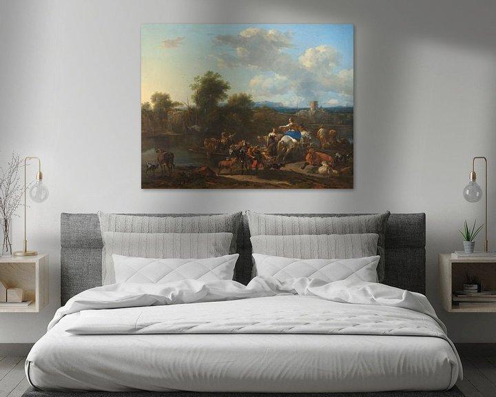 Beispiel: Der Ponton, Nicolaes Pietersz. Berchem
