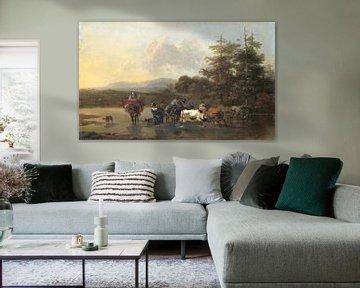 Der Oxdrift, Nicolaes Pietersz. Berchem