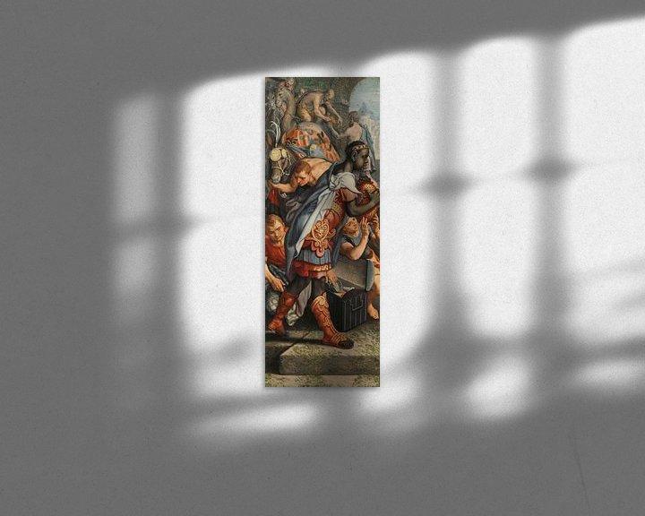 Beispiel: Flügel eines Altarbildes mit der Anbetung der Könige und der Einweihung im Tempel, Pieter Aertsen
