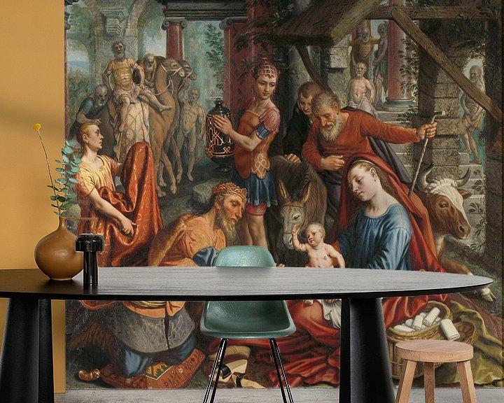 Beispiel fototapete: Die Anbetung der Könige, Pieter Aertsen, um 1560