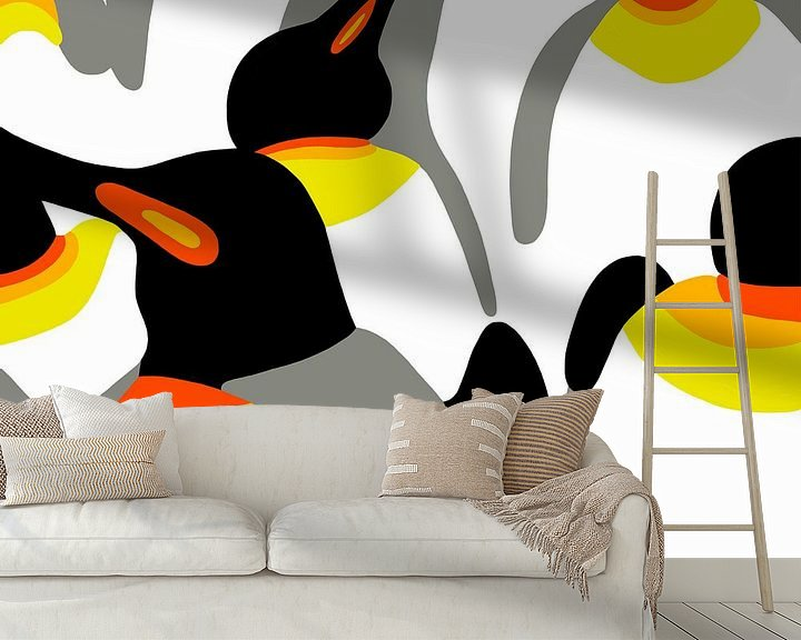 Beispiel fototapete: Pinguine von Jole Art (Annejole Jacobs - de Jongh)