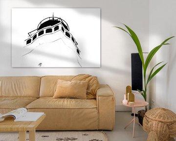 Der Leuchtturm von Noordwijk von Hans Vink