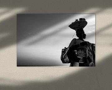 Schwarz-Weiß-Porträt Senegal von Babet Trommelen