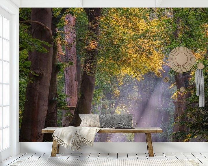 Sfeerimpressie behang: Het regent zonnestralen van Arjen Noord