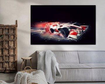 F1 Formel 1 Auto mit speziellem Geschwindigkeitseffekt von Atelier Liesjes