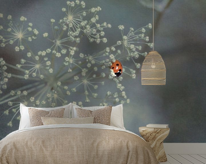 Sfeerimpressie behang: Lieveheersbeestje van Marianne Twijnstra-Gerrits