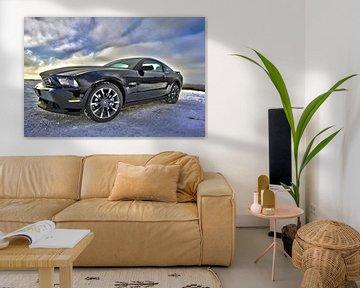 Ford Mustang sportscar in schwarz von Atelier Liesjes