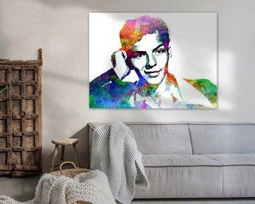 Frank Sinatra (Jong) Abstract Portret van Art By Dominic