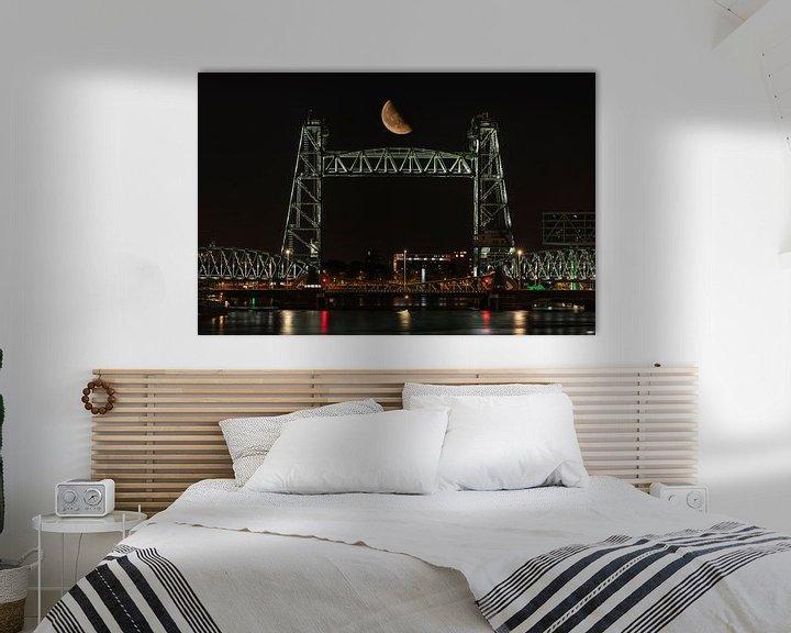 Sfeerimpressie: Spoorbrug De Hef in Rotterdam met de halve maan van MS Fotografie | Marc van der Stelt