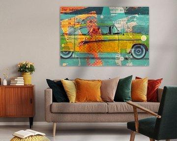 Abstract Automotive - Gelbe Taxi von Joost Hogervorst
