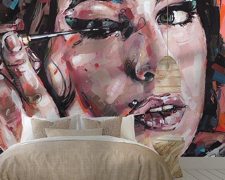 Beispiel fototapete: Amy Winehouse Malerei von Jos Hoppenbrouwers