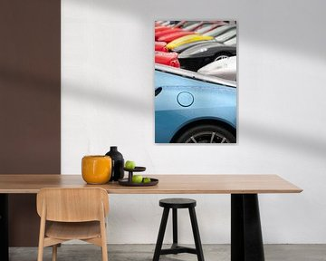 Ferrari-Kollektion mit einem Ferrari 430 Scuderia im Vordergrund von Sjoerd van der Wal