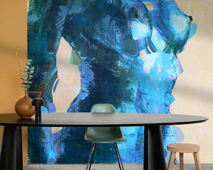 Beispiel fototapete: Cool blue lady. von Alies werk