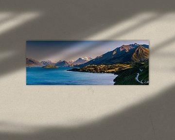 Die Straße nach Glenorchy, Otago, Südinsel, Neuseeland.
