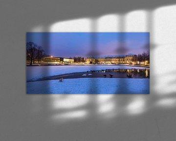 Parlement en nieuw paleis in Stuttgart van Werner Dieterich