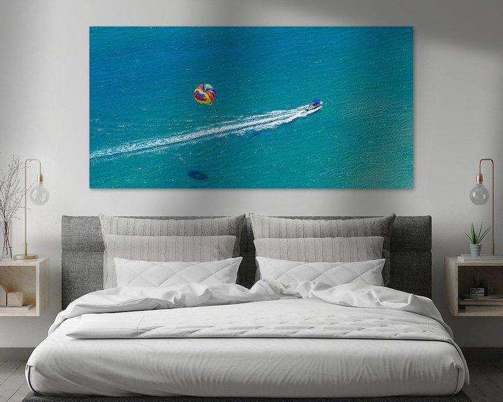 Sfeerimpressie: Parasailing op het eiland Rhodos van Werner Dieterich