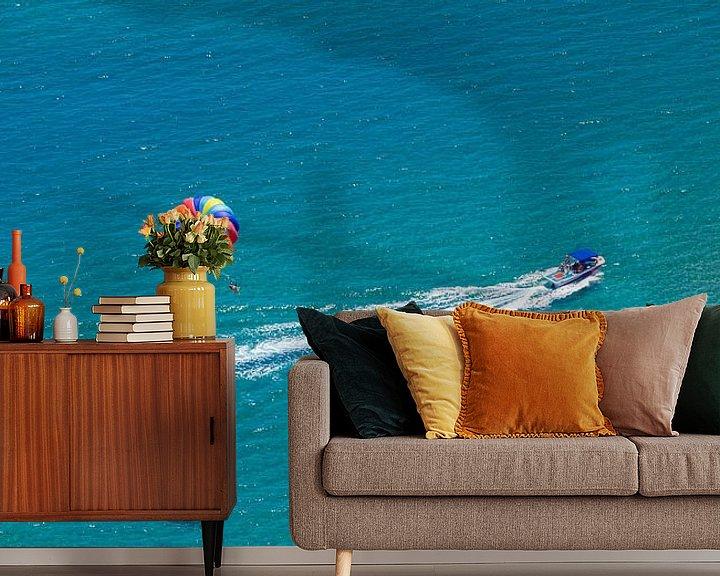Sfeerimpressie behang: Parasailing op het eiland Rhodos van Werner Dieterich