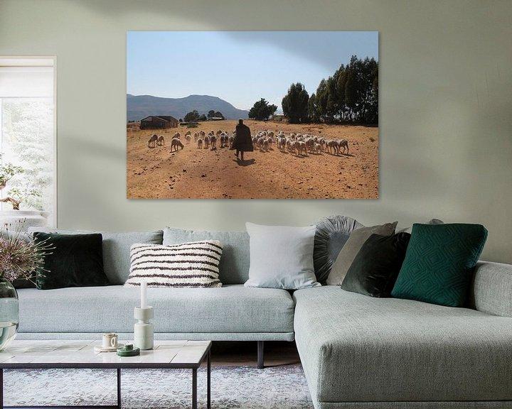 Beispiel: Hirte in Lesotho von Christiaan Van Den Berg