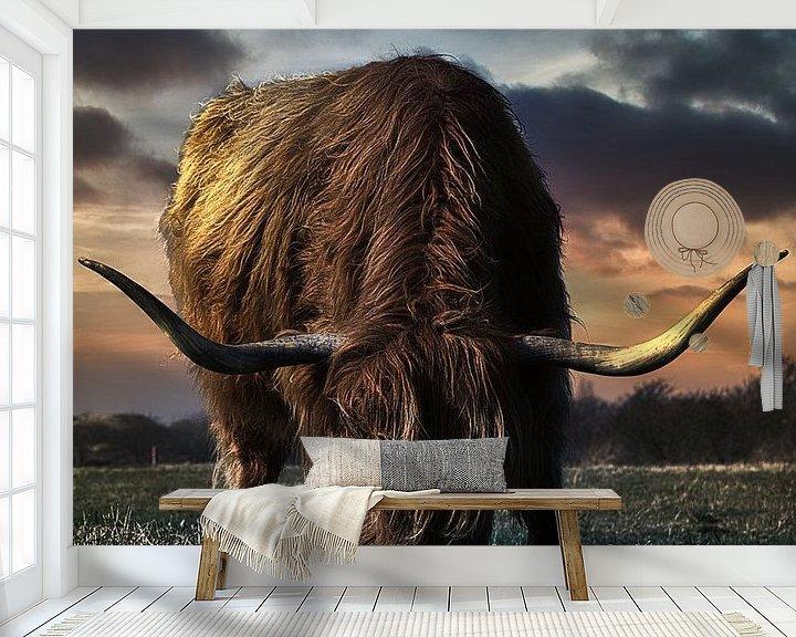 Beispiel fototapete: Mein Lieblings-Highlander von Wim van Beelen