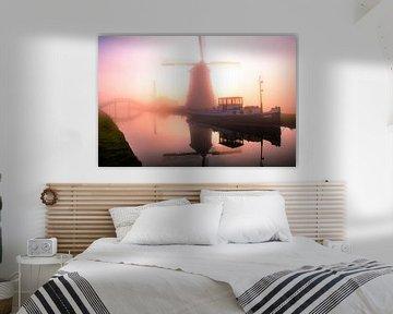 Neblige Windmühle von Marc Hollenberg