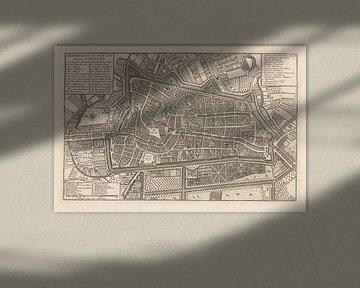 Plattegrond van de stad Utrecht, 1758 - na 1780