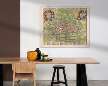 Karte der Stadt Utrecht, Jan van Vianen, 1695