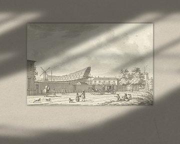 De scheepstimmerwerf te Rotterdam, Jan Bulthuis, 1790