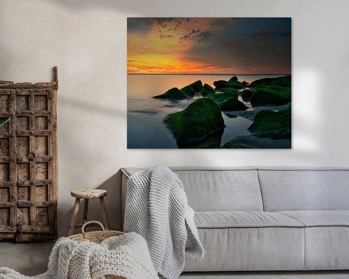 Beispiel: Die Felsen am Strand von Katwijk aan Zee von Wim van Beelen