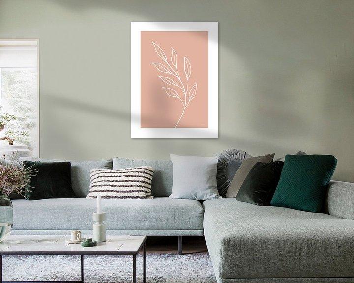Sfeerimpressie: Pink Leaf - Botanische Print van MDRN HOME