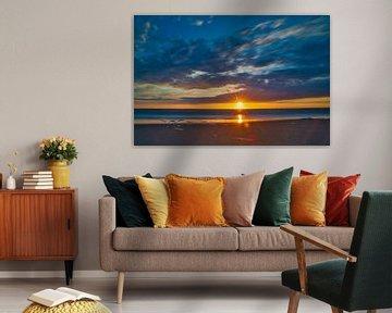 Sonnenuntergang Katwijk aan Zee von Wim van Beelen