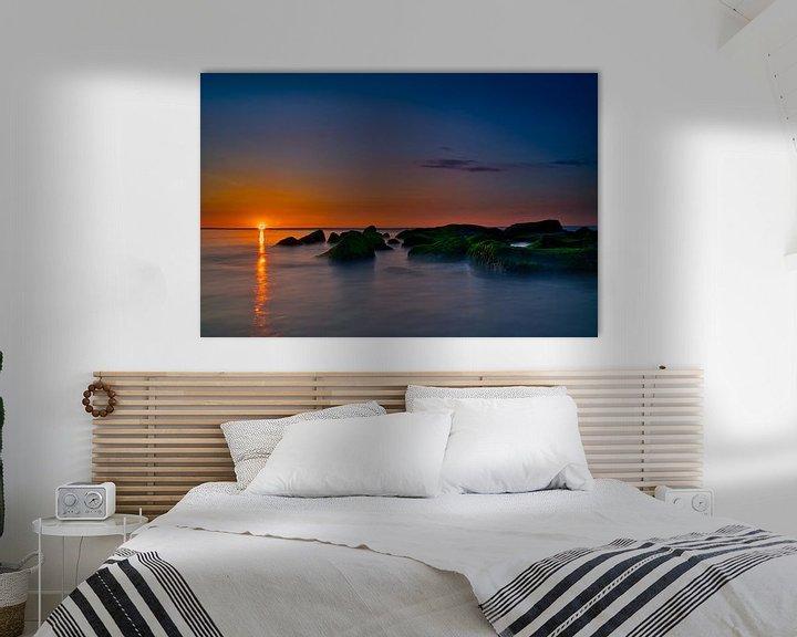 Beispiel: Felsüberflutung Sonnenuntergang Katwijk aan Zee von Wim van Beelen