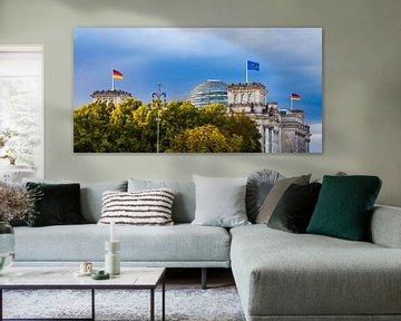 Rijksdaggebouw in Berlijn van Werner Dieterich