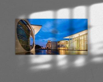 Regierungsviertel und das Reichstagsgebäude in Berlin von Werner Dieterich