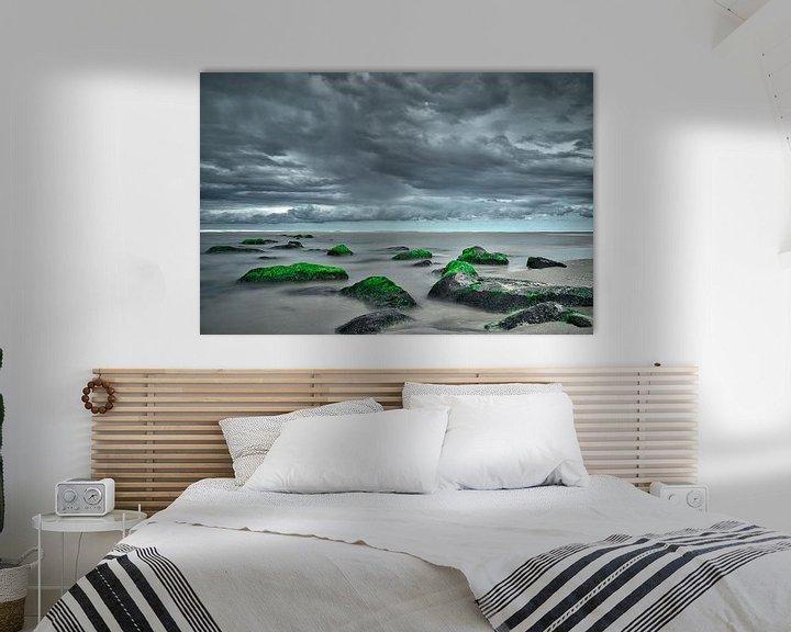 Beispiel: Sturm in Katwijk aan Zee lange Exposition von Wim van Beelen