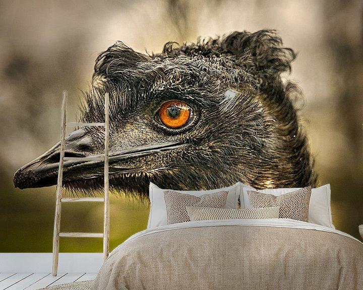 Beispiel fototapete: Emoe-Kopfschuss von Wim van Beelen