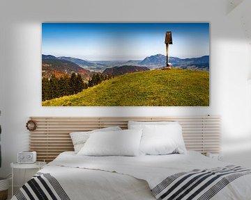 Oberstdorfer Becken mit Nebelhorn im Oberallgäu