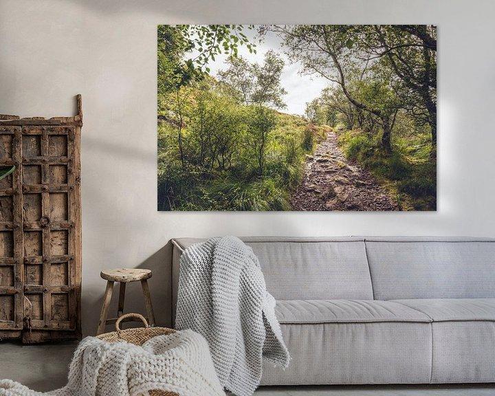 Beispiel: Waldweg in Schottland von Geke Woudstra