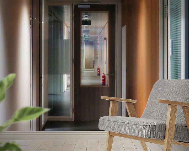 Beispiel fototapete: Die Bürohalle von Faucon Alexis